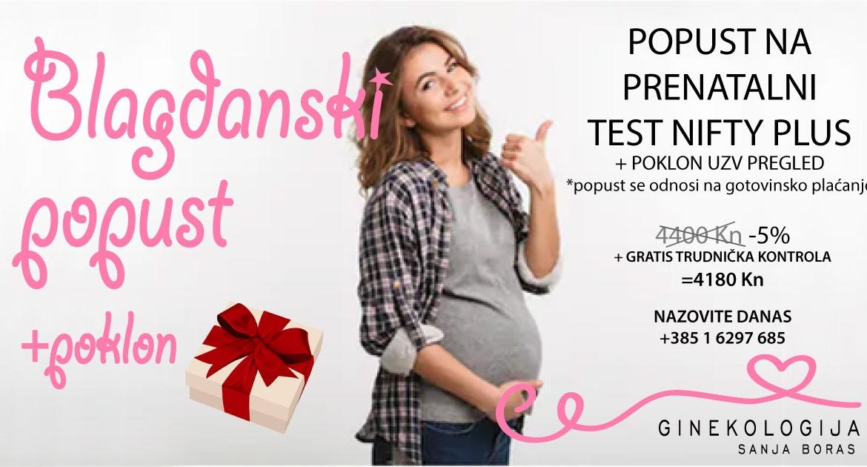Blagdanski popust na prenatalni test NIFTY Plus